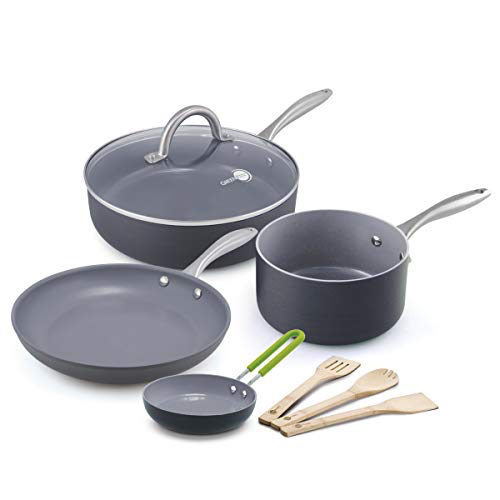 GreenPan Lima 8pc Ceramic Non-Stick Cookware Set